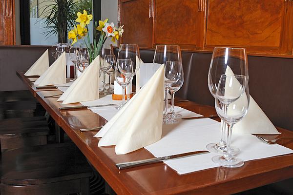 Restaurant Hünns Gedeckter Tisch